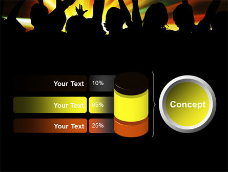 Concert Crowd PowerPoint Template Slide 11