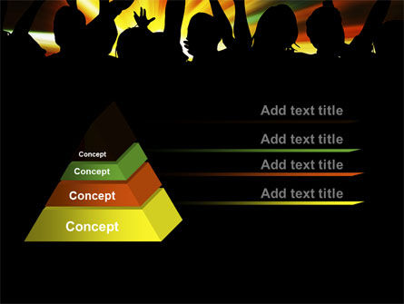 Concert Crowd PowerPoint Template Slide 12