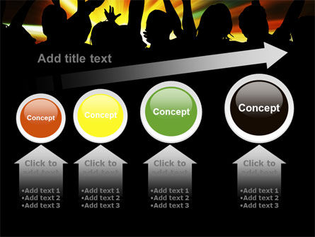 Concert Crowd PowerPoint Template Slide 13