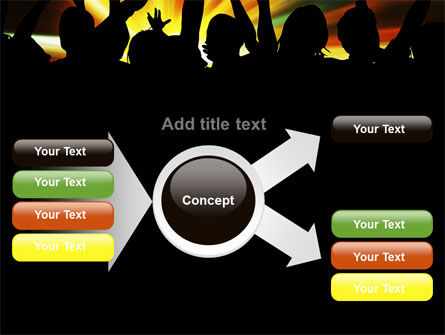 Concert Crowd PowerPoint Template Slide 14