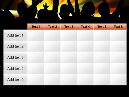 Concert Crowd PowerPoint Template Slide 15