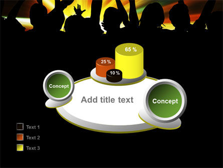 Concert Crowd PowerPoint Template Slide 16