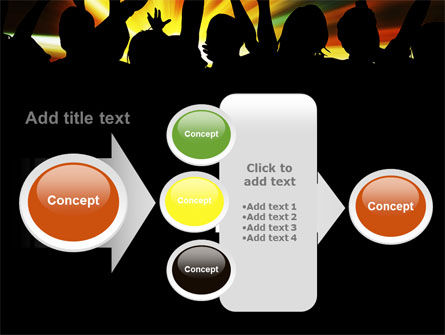 Concert Crowd PowerPoint Template Slide 17