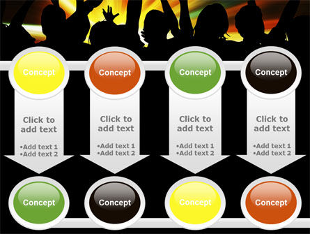 Concert Crowd PowerPoint Template Slide 18
