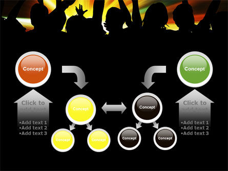 Concert Crowd PowerPoint Template Slide 19