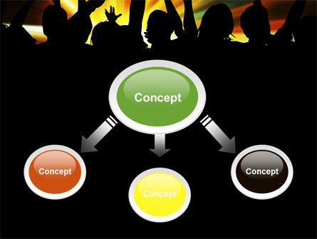 Concert Crowd PowerPoint Template Slide 4