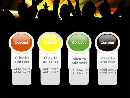 Concert Crowd PowerPoint Template Slide 5