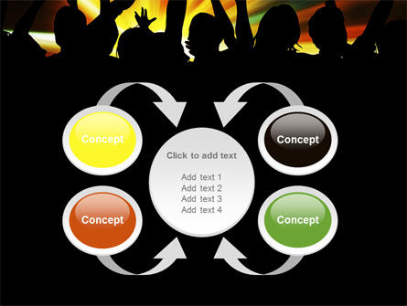 Concert Crowd PowerPoint Template Slide 6