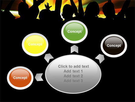 Concert Crowd PowerPoint Template Slide 7