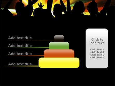 Concert Crowd PowerPoint Template Slide 8