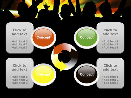 Concert Crowd PowerPoint Template Slide 9