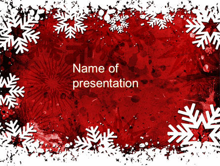 Snowflakes Frame PowerPoint Template, 10517, Holiday/Special Occasion — PoweredTemplate.com