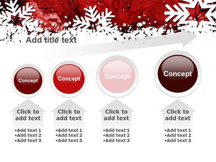 Snowflakes Frame PowerPoint Template Slide 13