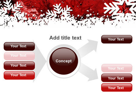 Snowflakes Frame PowerPoint Template Slide 14