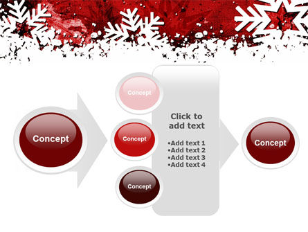 Snowflakes Frame PowerPoint Template Slide 17