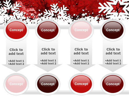 Snowflakes Frame PowerPoint Template Slide 18