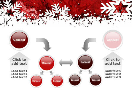 Snowflakes Frame PowerPoint Template Slide 19