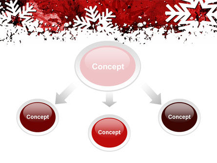 Snowflakes Frame PowerPoint Template, Slide 4, 10517, Holiday/Special Occasion — PoweredTemplate.com