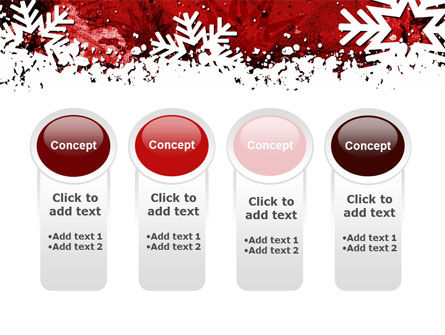 Snowflakes Frame PowerPoint Template Slide 5