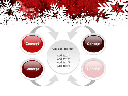 Snowflakes Frame PowerPoint Template Slide 6