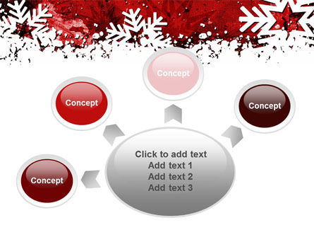 Snowflakes Frame PowerPoint Template Slide 7