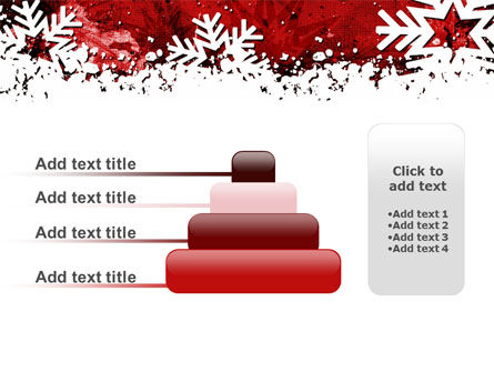 Snowflakes Frame PowerPoint Template Slide 8