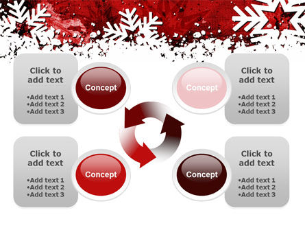 Snowflakes Frame PowerPoint Template Slide 9