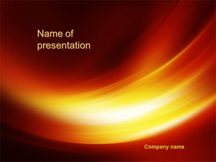 Abstract/Textures: Orange Curves PowerPoint Template #10521