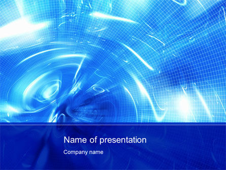 Weird 3D Surface PowerPoint Template, 10526, Abstract/Textures — PoweredTemplate.com