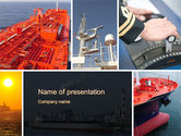 Cars and Transportation: Tanker PowerPoint Template #10530