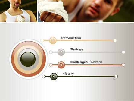 Fist Fighter PowerPoint Template, Slide 3, 10532, Sports — PoweredTemplate.com