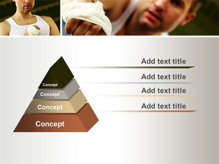 Fist Fighter PowerPoint Template, Slide 4, 10532, Sports — PoweredTemplate.com