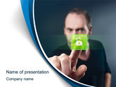 Business Concepts: Touch to Unlock PowerPoint Template #10533
