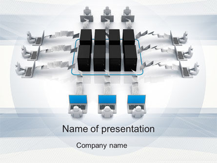 Automated Workflow PowerPoint Template, 10534, Technology and Science — PoweredTemplate.com