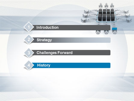 Automated Workflow PowerPoint Template, Slide 3, 10534, Technology and Science — PoweredTemplate.com