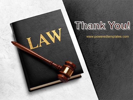 Law Book with Gavel PowerPoint Template Slide 20