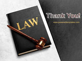 Law Book with Gavel PowerPoint Template#20