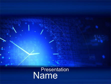 Time Concept in Digital PowerPoint Template