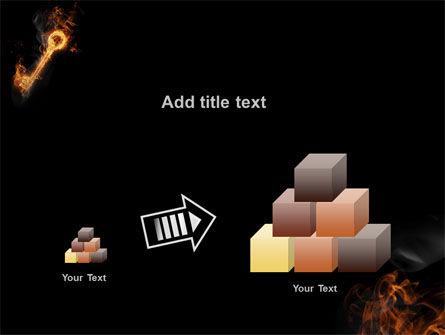 Fire Key PowerPoint Template Slide 13