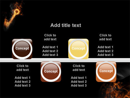 Fire Key PowerPoint Template Slide 18