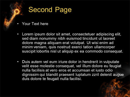 Fire Key PowerPoint Template Slide 2