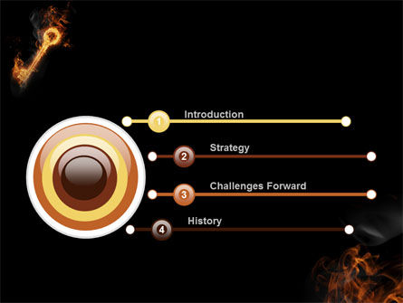 Fire Key PowerPoint Template Slide 3