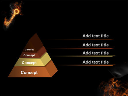Fire Key PowerPoint Template Slide 4