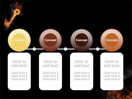 Fire Key PowerPoint Template Slide 5