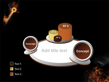 Fire Key PowerPoint Template Slide 6