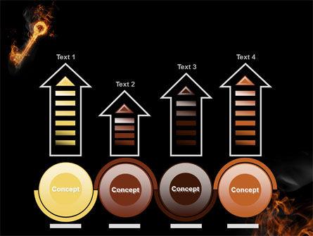 Fire Key PowerPoint Template Slide 7