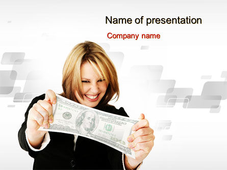 Financial/Accounting: Happy Winner PowerPoint Template #10540