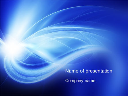 Abstract/Textures: Blue Plume PowerPoint Template #10541