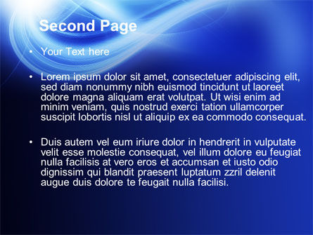 Blue Plume PowerPoint Template, Slide 2, 10541, Abstract/Textures — PoweredTemplate.com