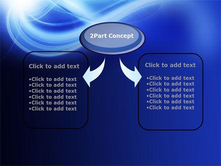 Blue Plume PowerPoint Template, Slide 4, 10541, Abstract/Textures — PoweredTemplate.com